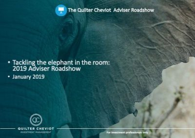 Quilter Cheviot – The Elephant in the Room IFA Roadshow